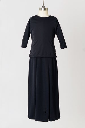 Image of Girls' Black Jersey Tunic Top