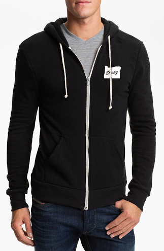 Image of Oregon Strong Zip Up Hoodie