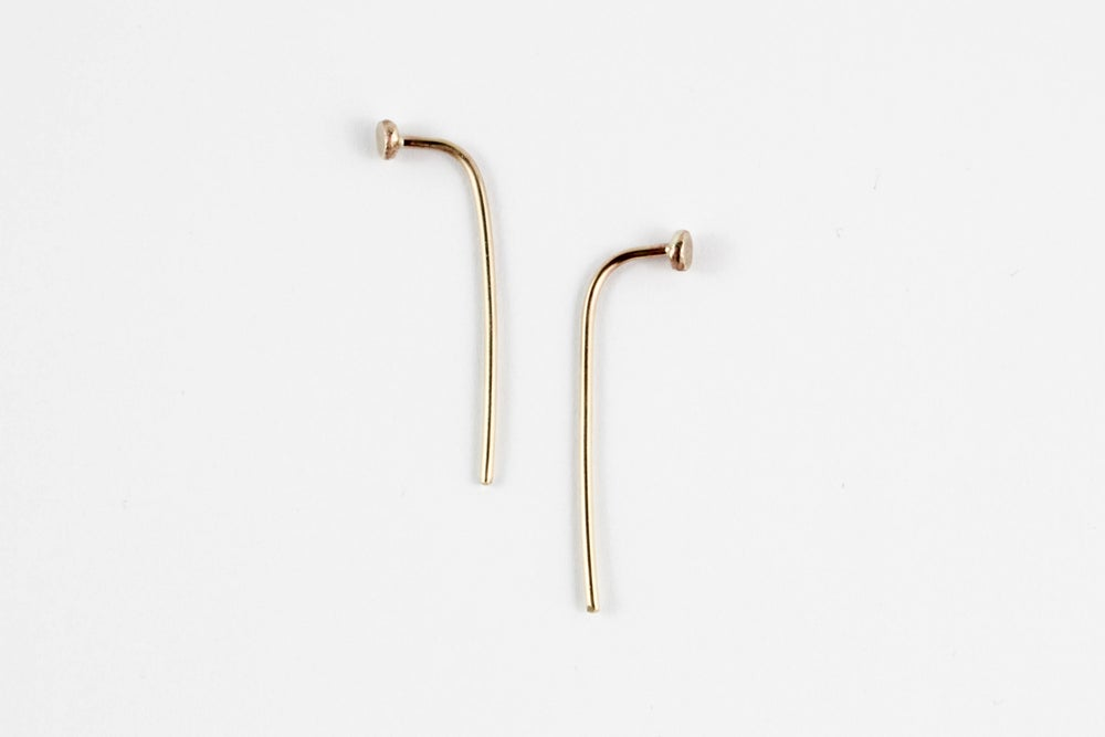 Image of Long Curve Earrings