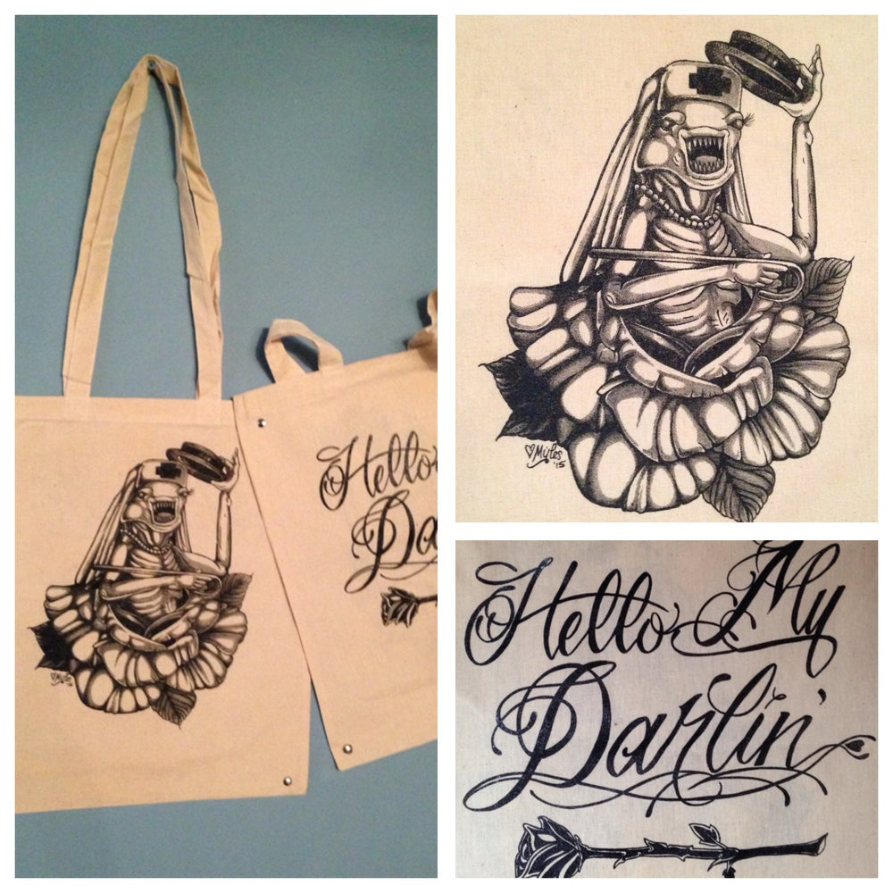 "Image of Spaceballs ""Hello My Darlin"" Double-sided Canvas Tote"
