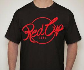 Image of Red Cup Gang Tee Black Pre-order