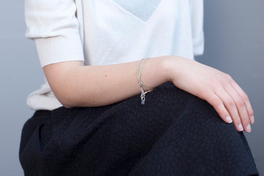 Image of Bracelet deux tours doré argent