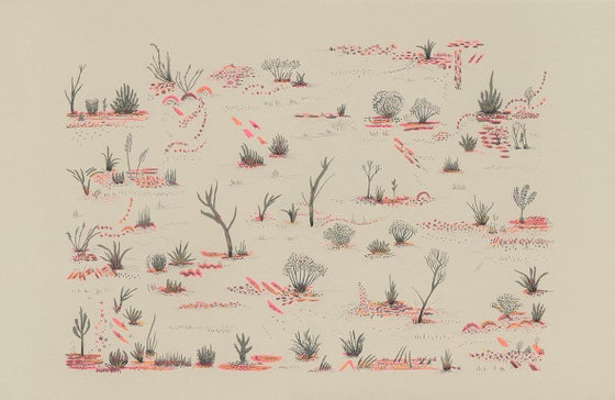 Image of Desert Plants screen print