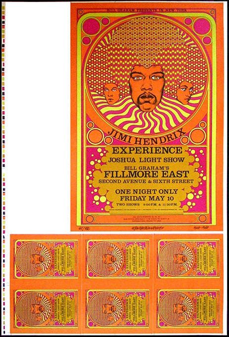 Image of Jimi Hendrix at the Fillmore East • Uncut with Postcards