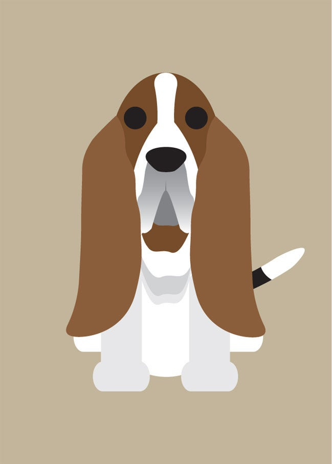 Bassett Hound, Beagle, Bearded Collie, Bernese, Bichon Collection