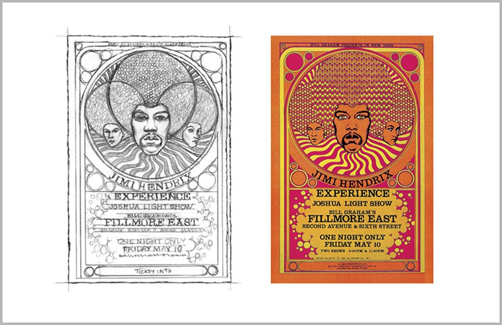 Image of TWO-UP SERIES: JIMI HENDRIX EXPERIENCE 1968