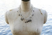 Image of Sterling Chain Choker with Faceted Garnets