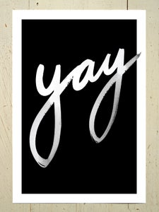 Image of Yay art print - Black