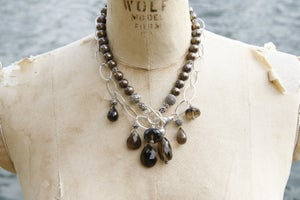 Image of Milk Chocolate Pearls and Smokey Quartz