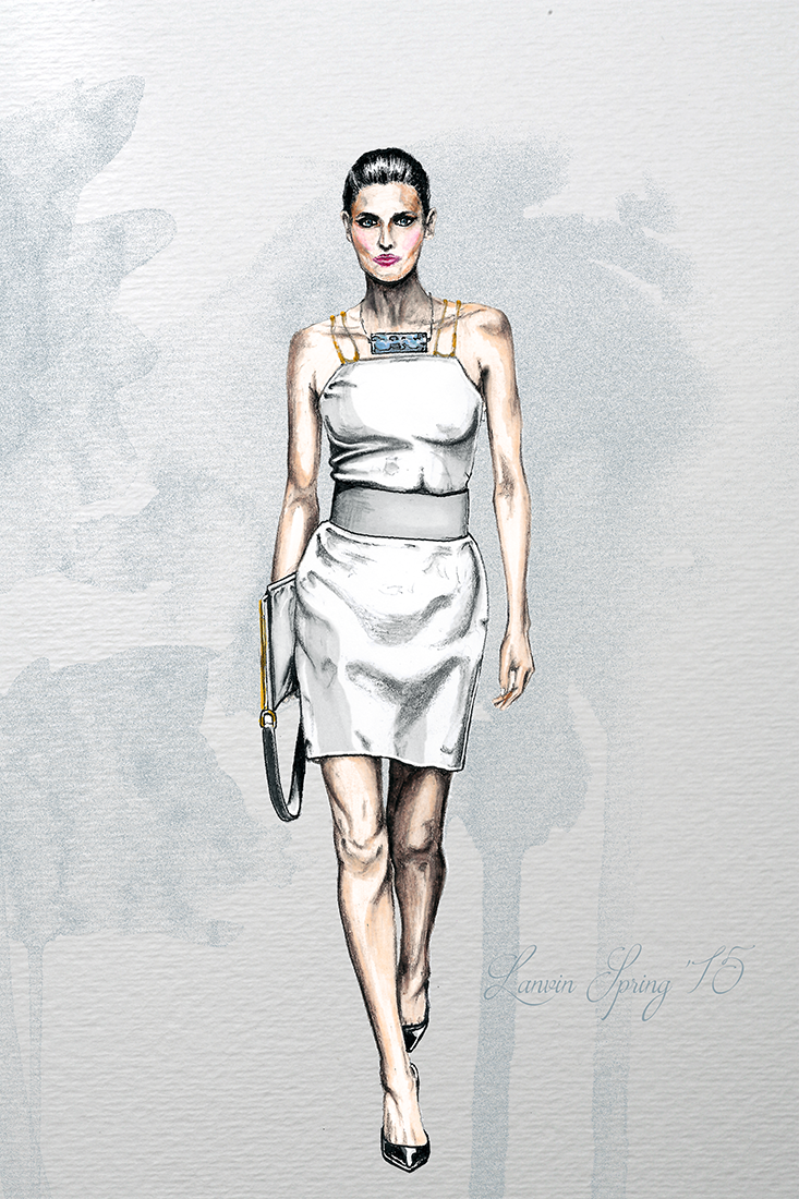Image of Lanvin Spring 2015 Illustration