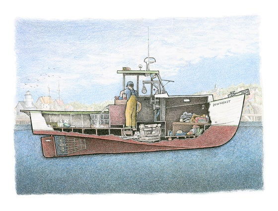 Image of Lobster Boat No. 1 12.5 X 9.5