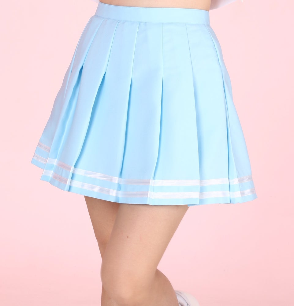 Image of Made To Order - Baby Blue Cheerleading Skirt by GFD