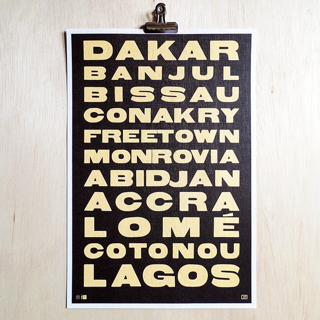 Image of The West African Transit Poster