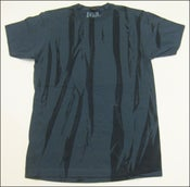 "Image of MJL ""Abstract Flaps"" Indigo Blue T-Shirt"