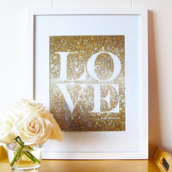 Image of Glitter Love Print