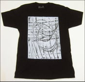 "Image of MJL ""Halftone Swirls"" Black Shirt"