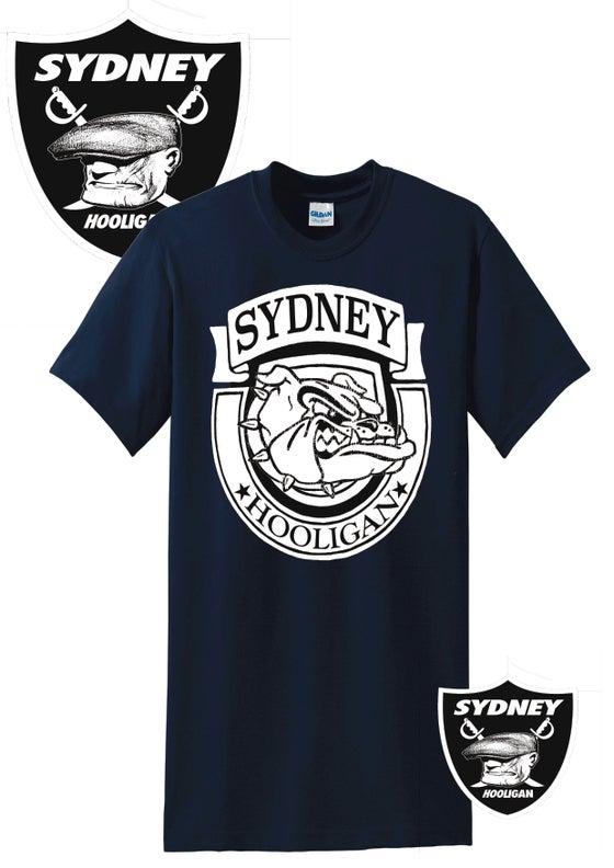 Image of SYDNEY HOOLIGAN NAVY TEE