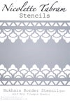 Bukhara Border Stencil for walls, furniture. Moroccan, Indian style