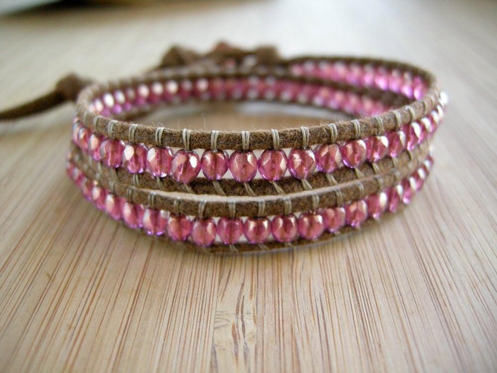 Image of Czech Bead Double Wrap Bracelet