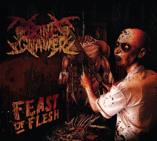 "Image of BONE GNAWER ""Feast Of Flesh"" Digipak CD"