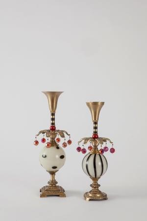 Jester 1, 2 Candlesticks - harlequin light