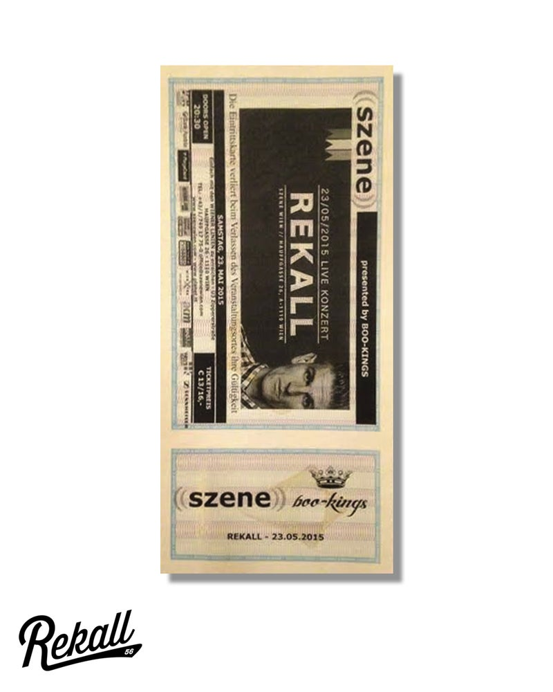 "Image of Rekall ""Konzert Ticket"""