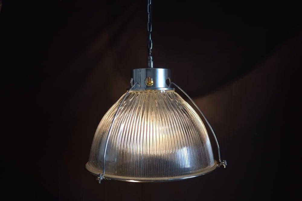 Image of Vintage Industrial Holophane Pendant Light #2