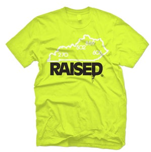 """Image of KY Raised """"Limited Edition"""" State Tee in Safety Green / White / Black"""