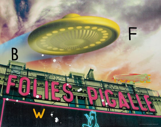 Image of Poster UFOs Follies Pigalle