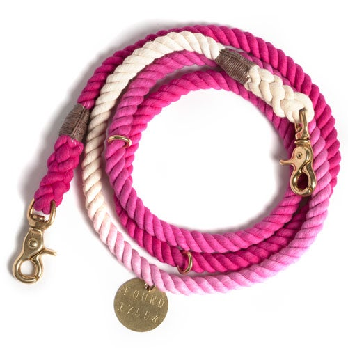 Image of Magenta, Ombre Rope Dog Lead