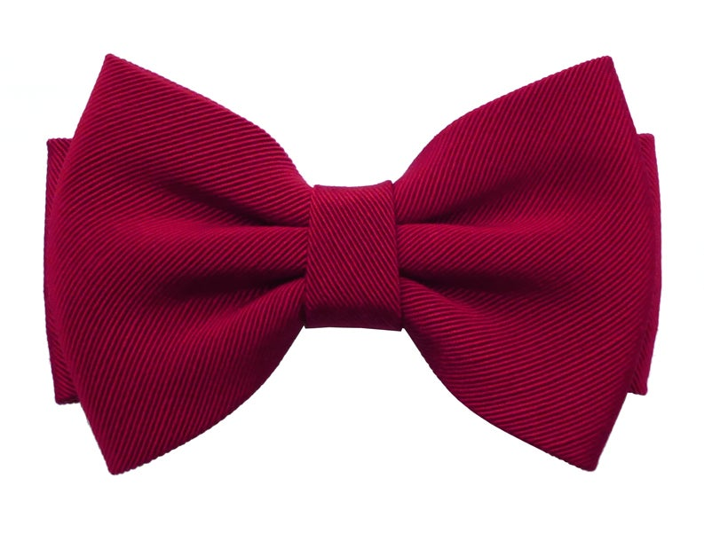 Image of Red Ottoman bow tie