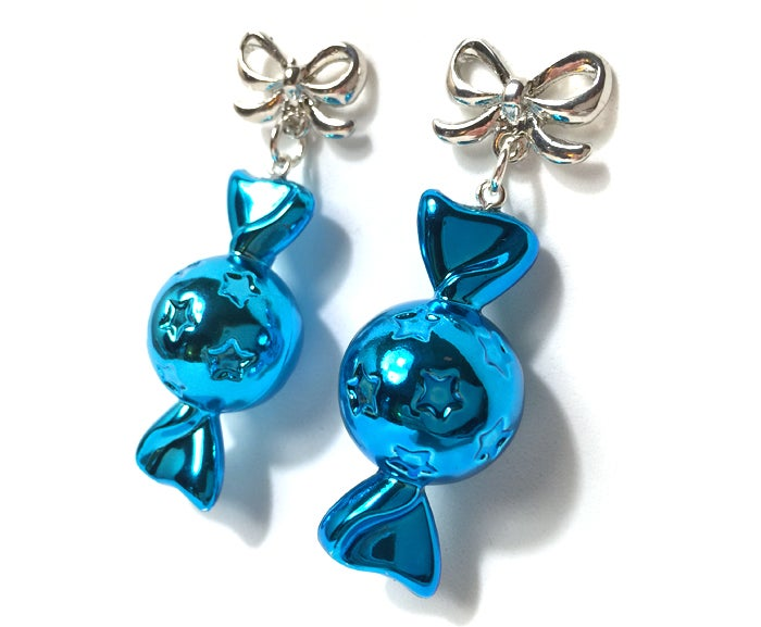Image of Candy Pop earrings ~ Aqua Bon Bon