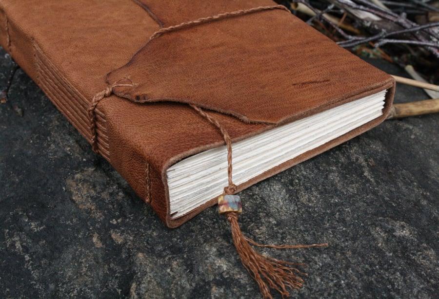 Image of Muir - a pragmatic leatherbound journal in burnt sienna