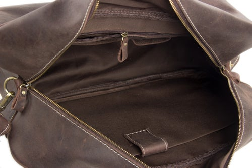 Image of Handcrafted Antique Style Real Leather Travel Bag, Duffle Bag, Holdall Luggage Bag 7156