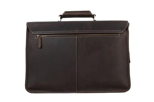 Image of Vintage Genuine Leather Briefcase Messenger Bag Laptop Bag 6922