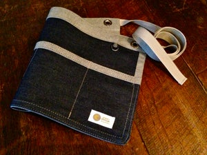 Image of 4 pocket Garden Apron | Handmade Raw Denim Waist Apron