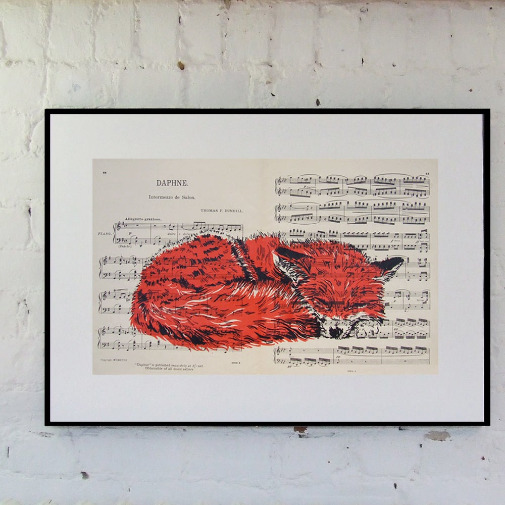 Image of SLEEPING FOX, SHEET MUSIC.