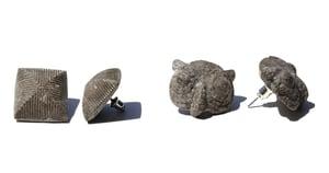 Image of minimalist earring- concrete jewelry / modern / cement light