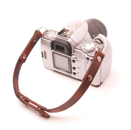 Image of Custom personalized Leather Camera Strap, Doubles as a Hand Carry Strap