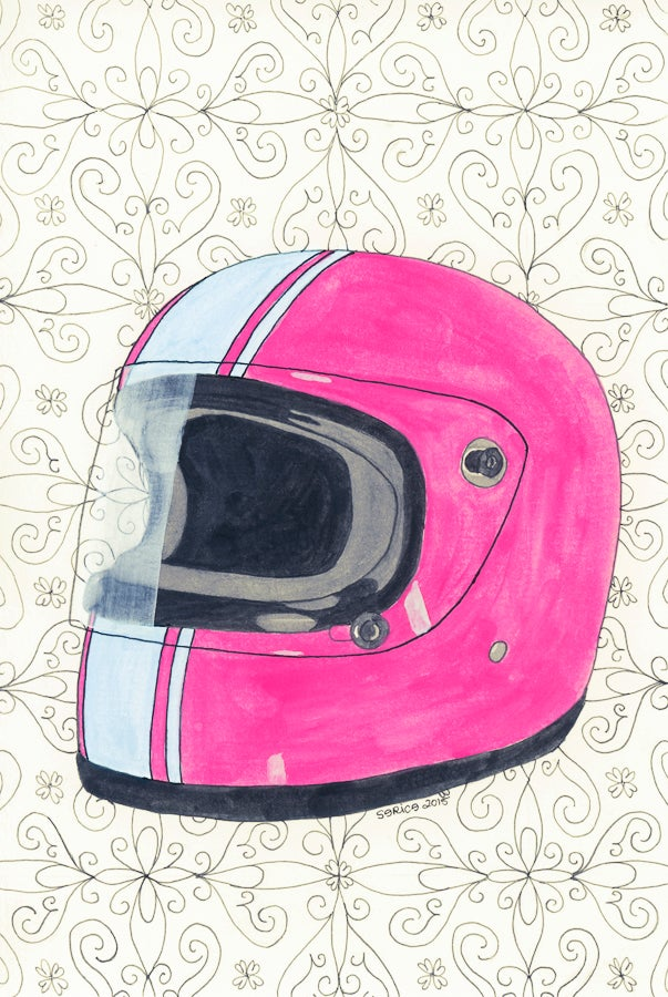 Image of Red Vintage Helmet