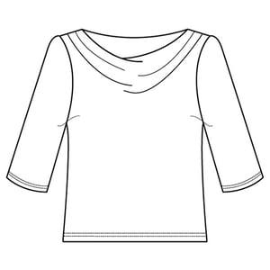 Image of Velvet Cowl Top