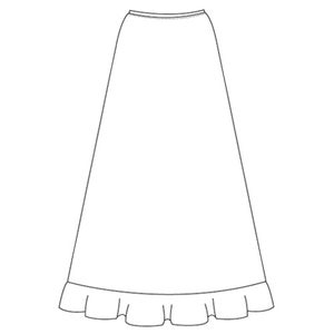Image of Jersey Flounce Skirt
