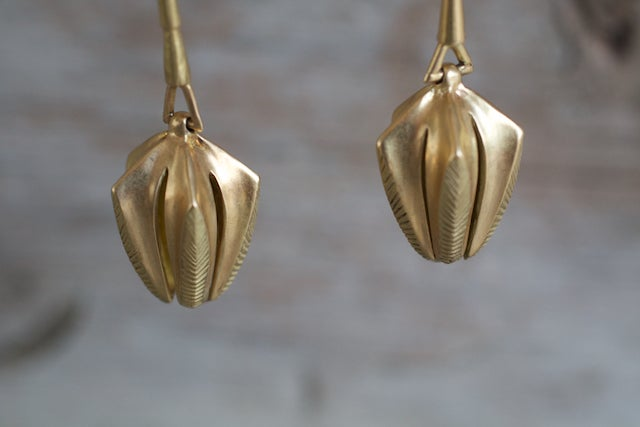 Image of Pentagon Nut Earrings