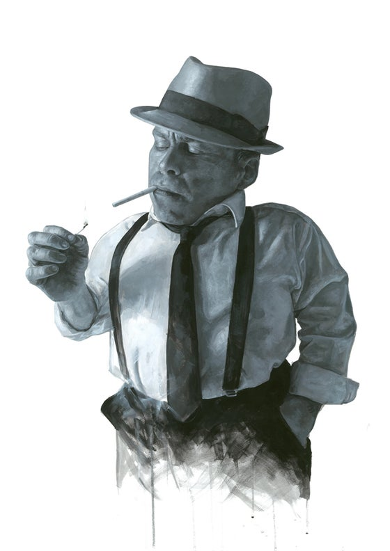 Image of Warwick Davis as Philip Marlowe // Limited Edition print
