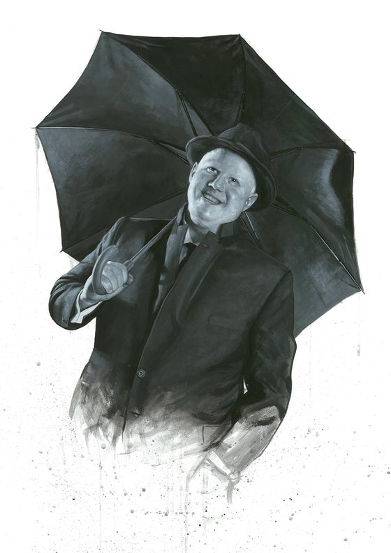 Image of Matt Lucas as Don Lockwood from Singin' In The Rain // Limited Edition print