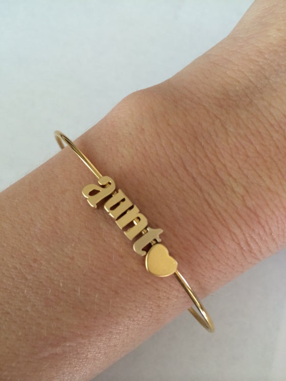 Image of CREATE YOUR OWN LOWER CASE BANGLE