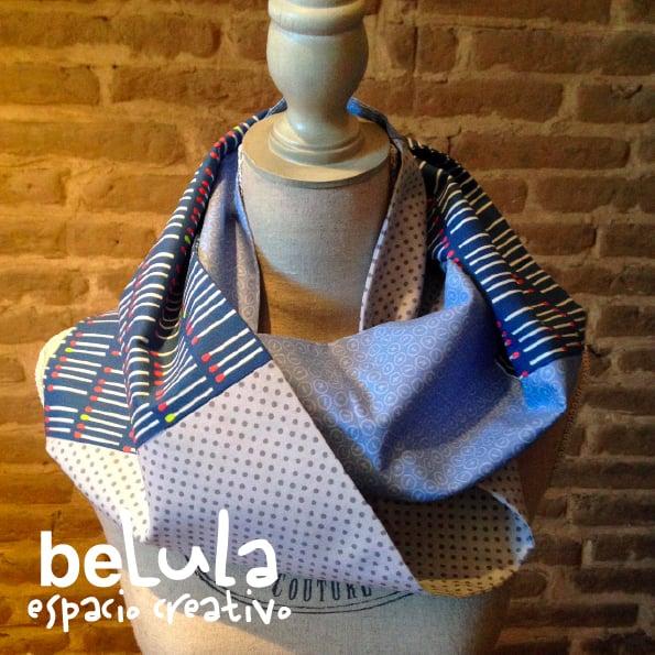 Image of Cuello circular tela: cerillas azules