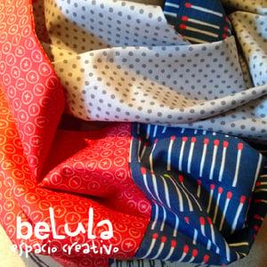 Image of Cuello circular tela: cerillas rojos