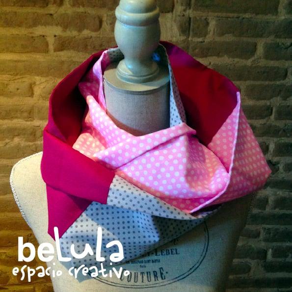 Image of Cuello circular tela: lunares rosas