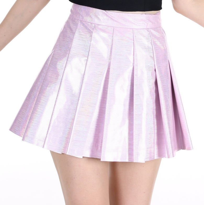 Image of Pink Hologram Pleated Tennis